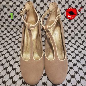 Seychelles TRUMPET TAUPE SUEDE HEELS / Size 7